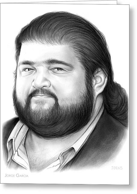 Jorge Garcia Greeting Card by Greg Joens
