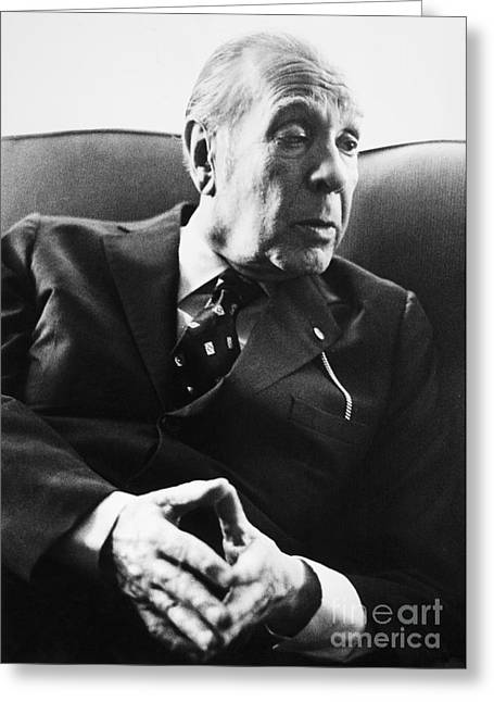 Jorge Luis Borges (1899-1986) Greeting Card by Granger