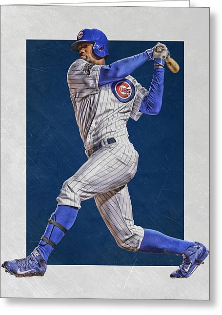 Jorge Soler Chicago Cubs Art Greeting Card by Joe Hamilton