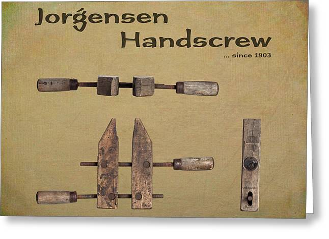 Jorgensen Handscrew Greeting Card by Tom Mc Nemar