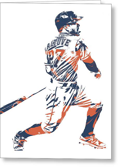 Jose Altuve Houston Astros Pixel Art 22 Greeting Card