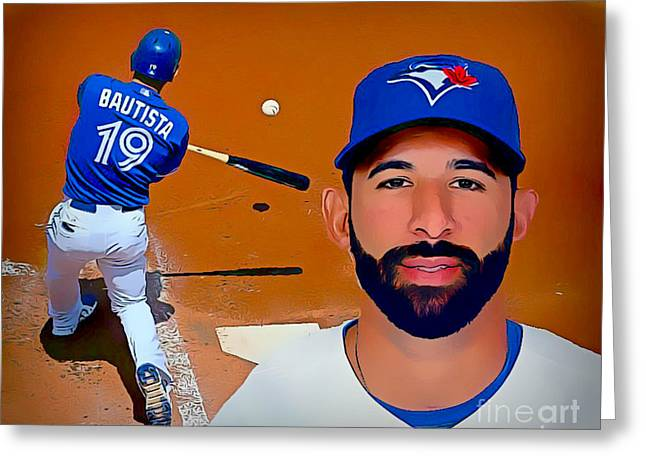 Jose Bautista Baseball Poster Greeting Card by Pd