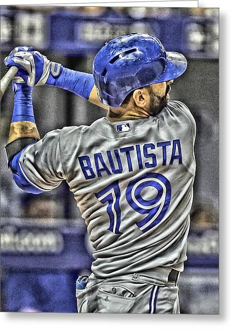 Jose Bautista Toronto Blue Jays Greeting Card by Joe Hamilton