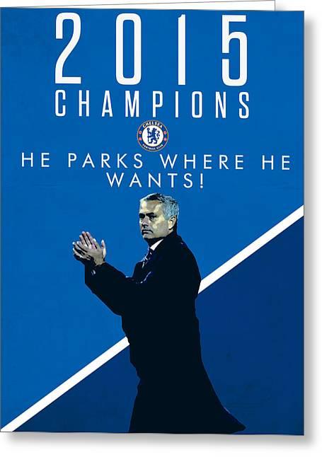 Jose Mourinho Greeting Card by Semih Yurdabak