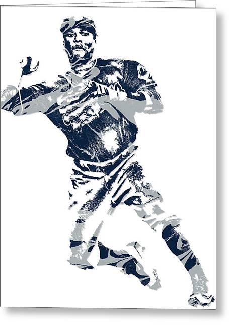 Jose Ramirez Cleveland Indians Pixel Art 1 Greeting Card