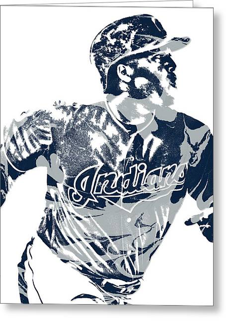 Jose Ramirez Cleveland Indians Pixel Art 3 Greeting Card