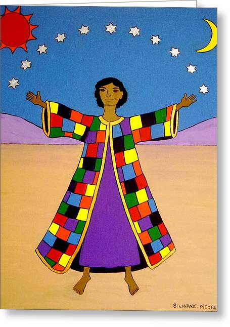 Joseph And His Coat Of Many Colours Greeting Card by Stephanie Moore