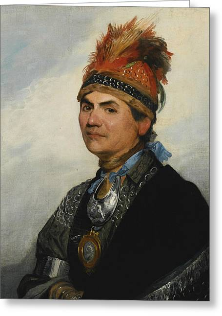 Joseph Brant Greeting Card by Gilbert Stuart