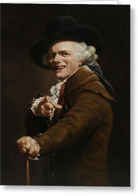 Joseph Ducreux - Guise Of A Mocker Painting  Greeting Card