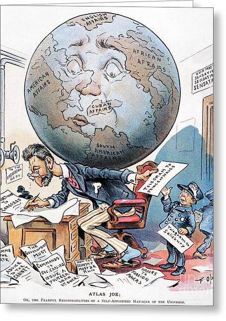 Joseph Pulitzer Cartoon Greeting Card