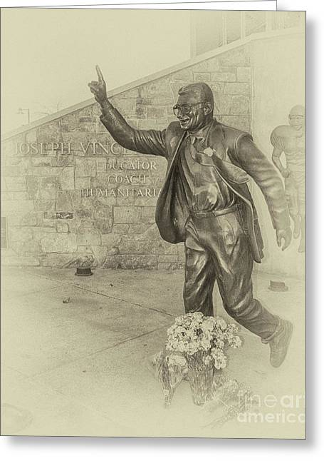 Joseph Vincent Paterno Sepia Greeting Card by Tom Gari Gallery-Three-Photography