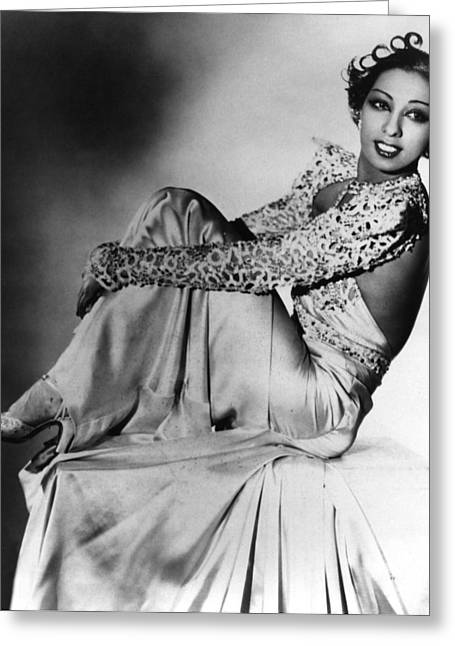 Josephine Baker Greeting Card by American School