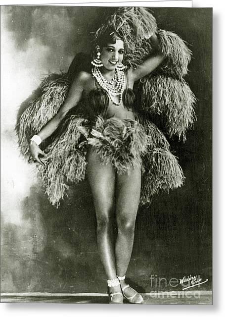 Josephine Baker In 1927 Greeting Card