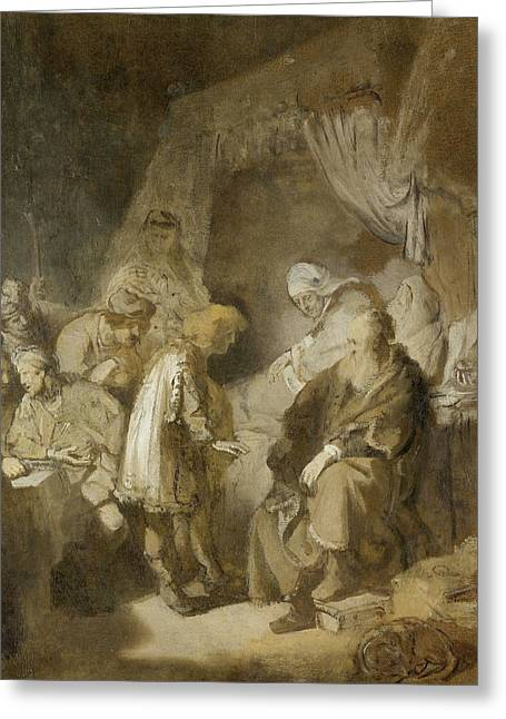 Joseph's Dreams Greeting Card by Rembrandt