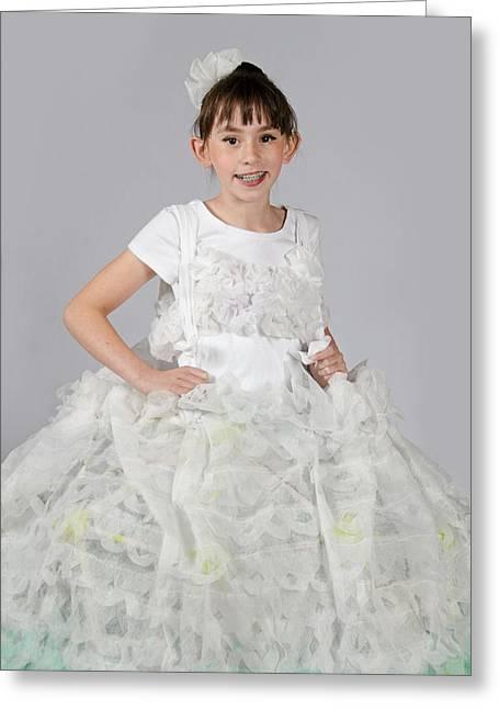 Josette In Dryer Sheet Dress Greeting Card