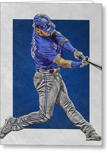 Josh Donaldson Toronto Blue Jays Art 2 Greeting Card by Joe Hamilton