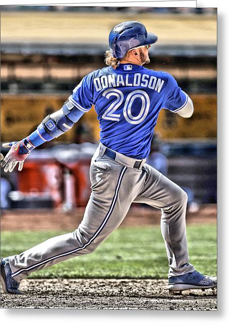Josh Donaldson Toronto Blue Jays Greeting Card by Joe Hamilton