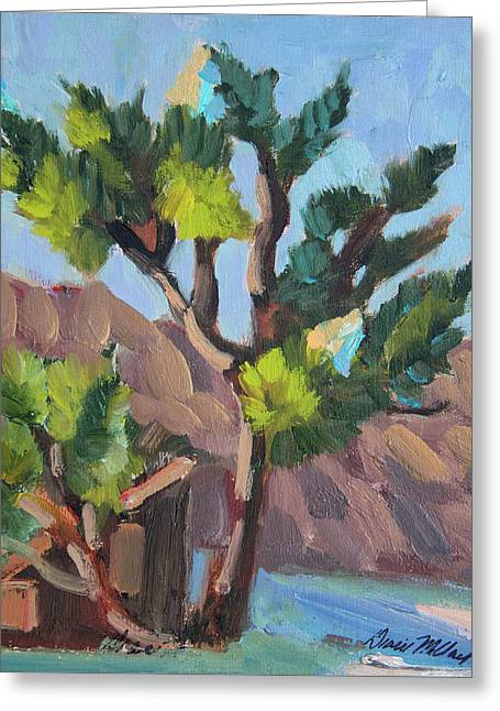 Greeting Card featuring the painting Joshua At Keys Ranch by Diane McClary