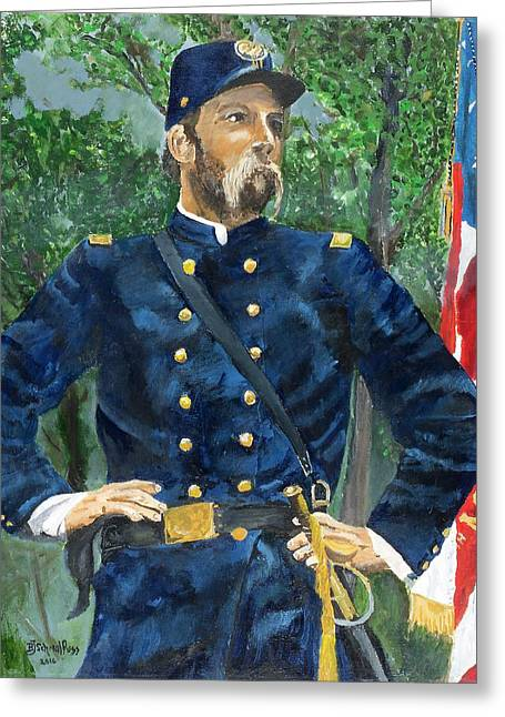 Joshua Chamberlain Greeting Card by Bruce Schmalfuss