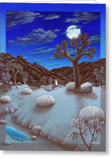 Joshua Tree At Night Greeting Card by Snake Jagger
