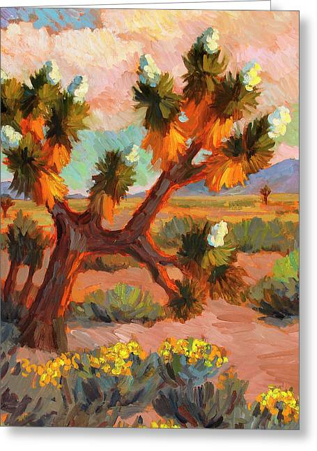 Climbing In Greeting Cards - Joshua Tree Greeting Card by Diane McClary
