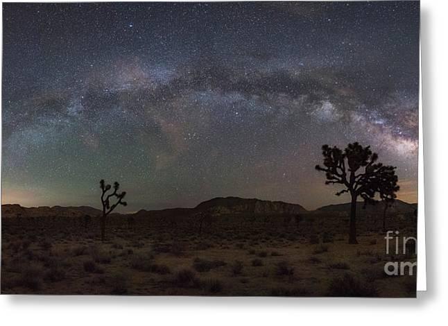 Joshua Tree Milky Way Panorama Greeting Card