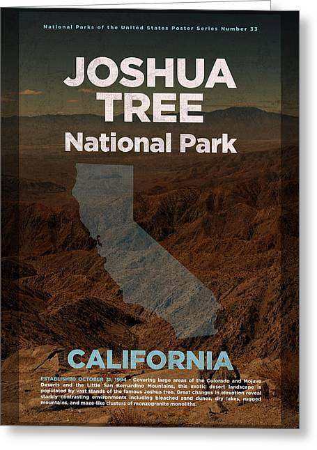 Joshua Tree National Park In California Travel Poster Series Of National Parks Number 33 Greeting Card