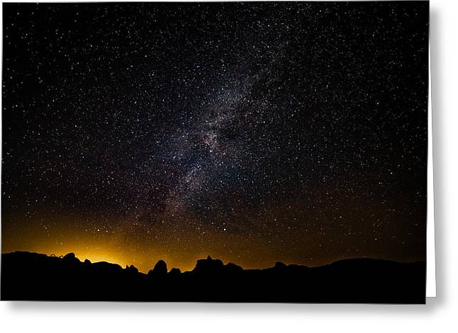 Greeting Card featuring the photograph Joshua Tree's Fiery Sky by T Brian Jones