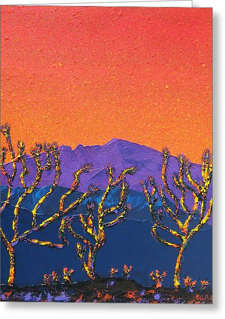 Joshua Trees Greeting Card by Mayhem Mediums