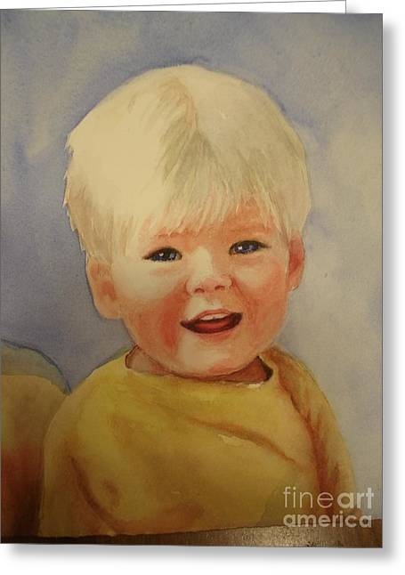 Joshua's Youngest Brother Greeting Card by Marilyn Jacobson
