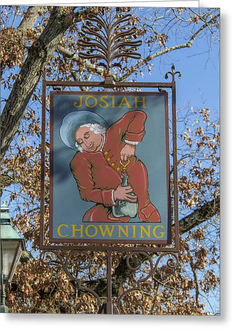 Josiah Chowning Sign Greeting Card by Teresa Mucha