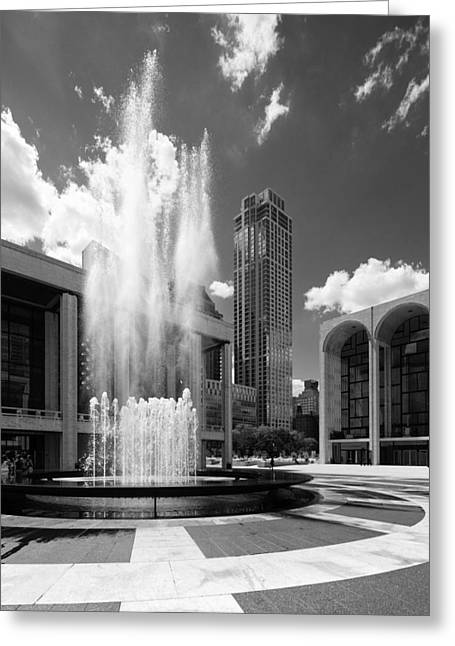Revson Fountain Greeting Card by S R Shilling