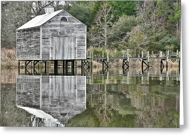 Jourdan River Boathouse Greeting Card