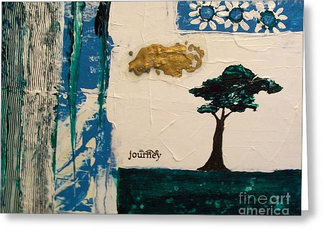 Journey Abstract Greeting Card by Marsha Heiken