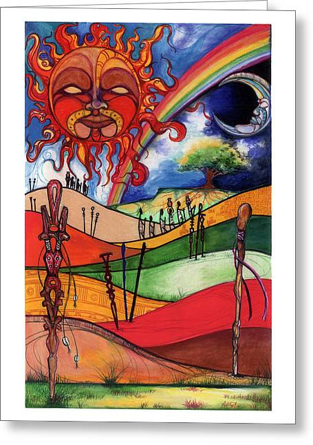 Spirt Greeting Cards - Journey Greeting Card by Anthony Burks Sr