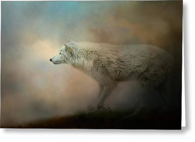 Journey Of The Timber Wolf Greeting Card