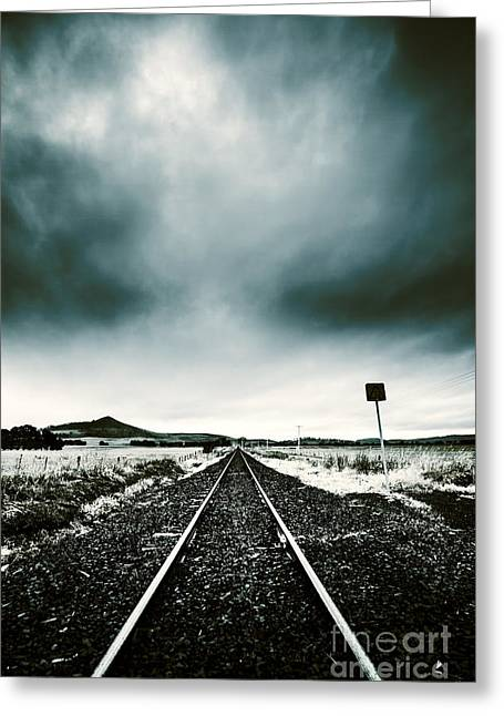Journey Of Turbulence Greeting Card by Jorgo Photography - Wall Art Gallery