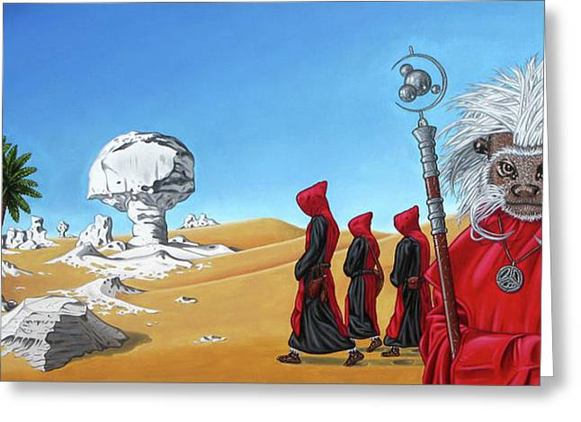 Journey To The White Desert Greeting Card