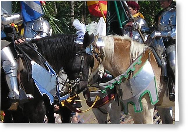 Joust Greeting Card by Maria Bonnier-Perez