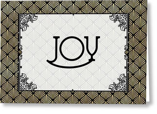 Joy - Art Deco Greeting Card