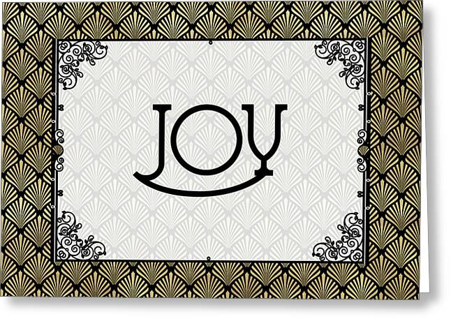 Joy - Art Deco Greeting Card