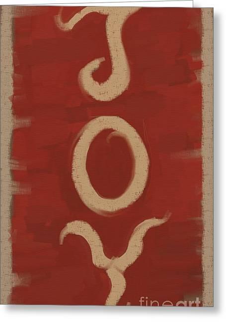 JOY Greeting Card by Carrie Joy Byrnes