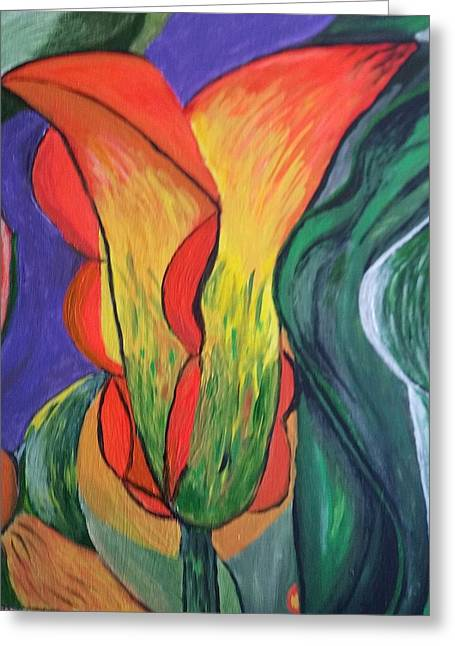 Joy In A Tulip Greeting Card by Diann Blevins