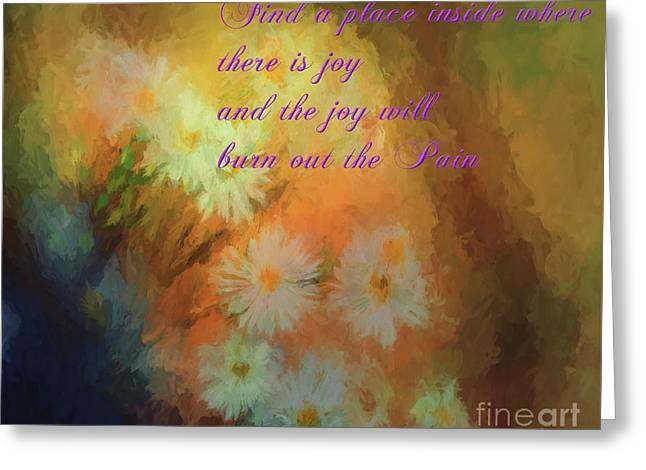 Greeting Card featuring the mixed media Joy by Jim  Hatch