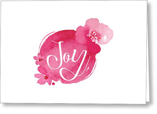 Joy Greeting Card by Nancy Ingersoll
