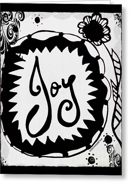 Greeting Card featuring the drawing Joy by Rachel Maynard
