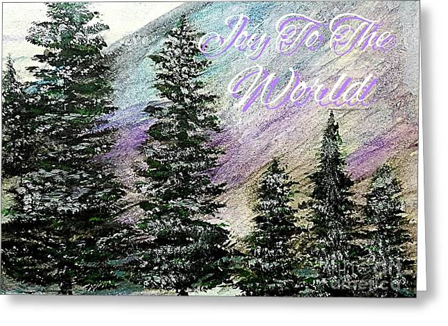 Joy To The World Greeting Card Greeting Card