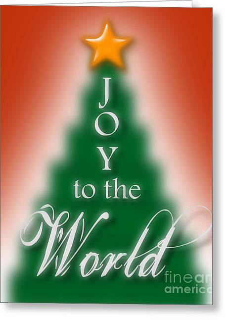 Joy To The World In Christmas Greeting Card by Liesl Marelli