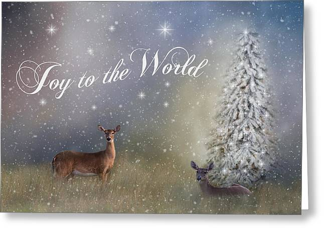 Joy To The World Greeting Card by Kim Hojnacki