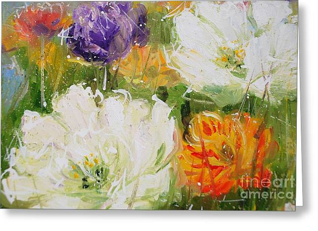 Joy With Tulips Greeting Card